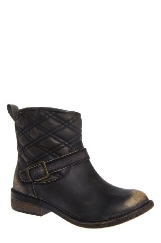 Lucky Brand Nordic Low Heel Distressed Ankle Boot