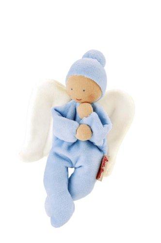 kathe-kruse-7422674226-organic-nicki-baby-angel-soft-toy-light-blue