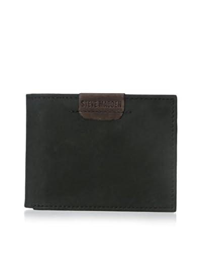 Steve Madden Men's Dakota Billfold Wallet, Black, One Size