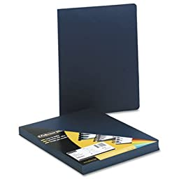 Executive Presentation Binding System Covers, 11-1/4 x 8-3/4, Navy, 50/Pack, Sold as 50 Each