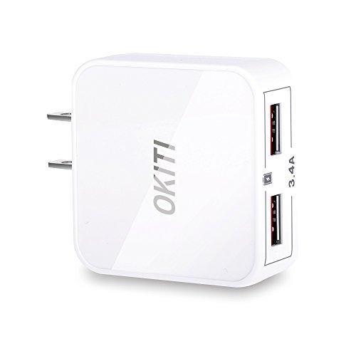 OKITI usb充電器 17W 2ポート iPhone iPad スマホ タブレット モバイルバッテリー 等対応 ac アダプタ 急速充電 チャージャー (ホワイト)