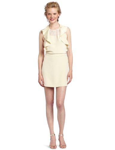 Pencey Women's Ruffle Dress, Champagne, 4