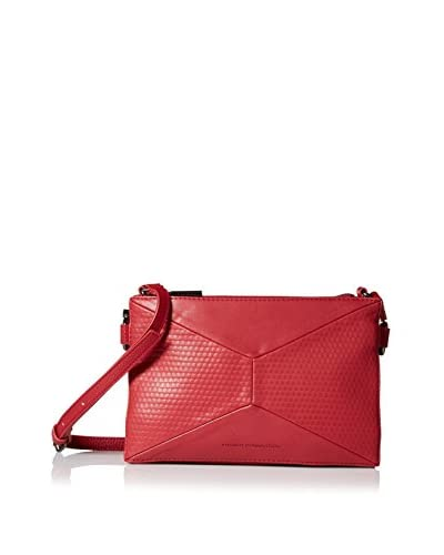 French Connection Women's Shane Triple Compartment Crossbody, Morello