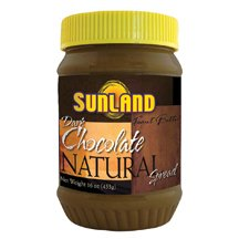 Sunland Natural Peanut Butter, Creamy Cholate Spread (No Stir), 16-Ounce PET Jars ( Value Bulk Multi-pack)