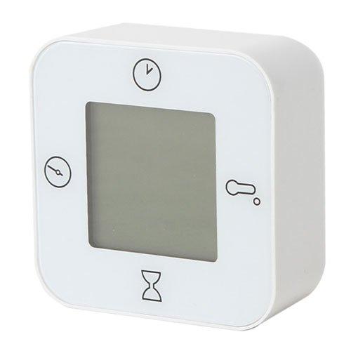 IKEA LOTTORP 80243453 時計 温度計 アラーム タイマー ホワイト
