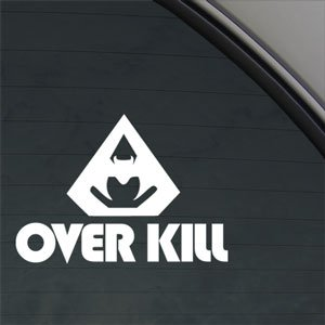 Overkill Rock Band Over Kill Decal Window Sticker