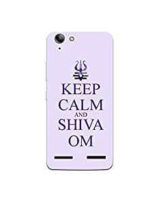 LENOVO VIBE K5 Plus nkt-04 (25) Mobile Case by Mott2 - Keep calm and Shiva Om... (Limited Time Offers,Please Check the Details Below)