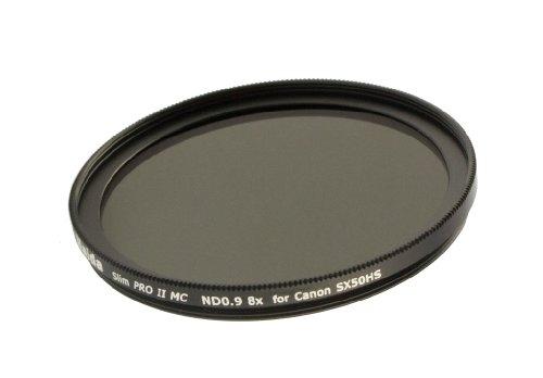 Haida Slim ND Graufilter Pro II MC 8x für Canon Powershot SX50 HS - inkl. Objektivdeckel