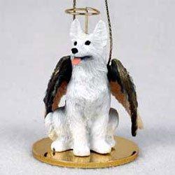 Christmas Ornament: German Shepherd, white