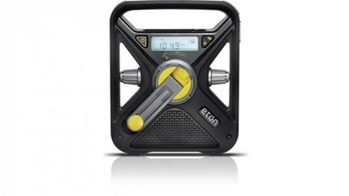 Eton FRX3 Hand Turbine NOAA AM/FM Weather Alert Radio with Smartphone Charger - Black (NFRX3WXB)