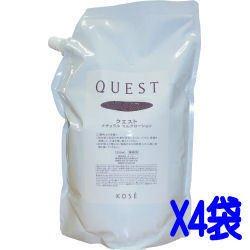 コーセー クエスト QUEST ナチュラルクレンジングローション 1.2L×4袋 ケース 業務用女性用化粧品