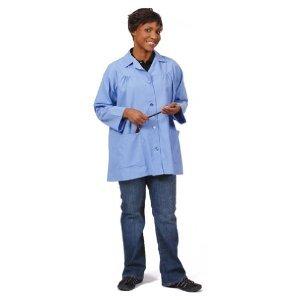 Artist Smock, Ceil Blue, Large, 65/35 Poly Cotton Poplin, 2 Pockets, 82719, K75