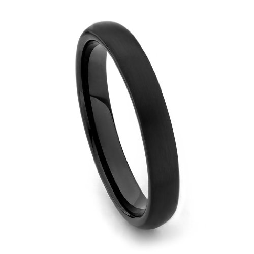 4mm Round Tungsten Wedding Band - Size 6