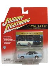 Johnny Lightning Classic Gold Collection 1967 Mercury Cougar (Baby Blue)