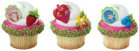 Strawberry Shortcake Cupcake Topper Rings Party Favors - 12 ct - 1
