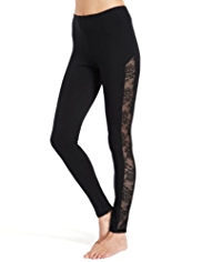 Heatgen™ Thermal Floral Lace Insert Leggings
