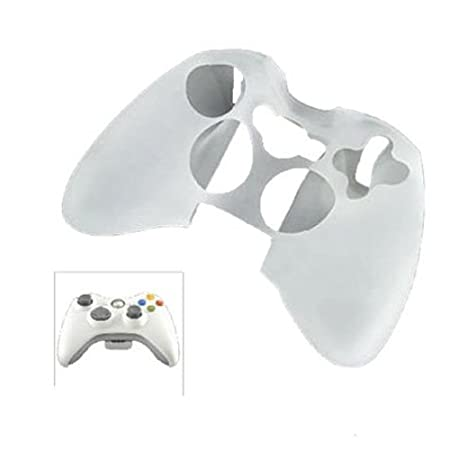 White Silicone Protector Skin Case Cover for Xbox 360 Game Controller [Xbox 360]