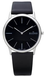 Skagen Denmark Mens Watch Super Slim Black 858XLSLB