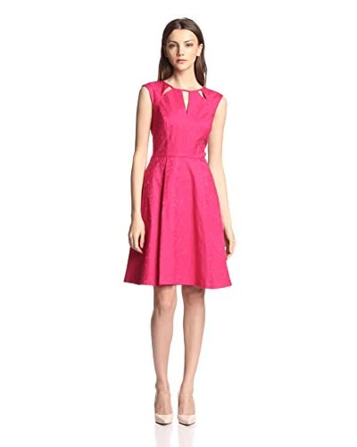 Adrianna Papell Women's Cutout Neckline Fit-and-Flare Dress