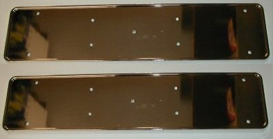 2 X CHROME SILVER NUMBER PLATE SURROUND TRIM