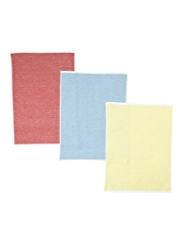 3 Two Tone Bright Hand Towels