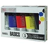 Liquitex Basics Permanent Water-resistant Acrylic Paints (Set of 5) 101082