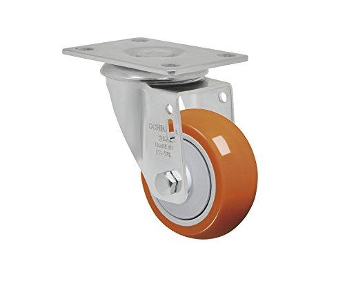 "Schioppa L12 Series, Gla 312 Upe, 3 X 1-1/4"" Swivel Caster, Non-Marking Polyurethane Precision Ball Bearing Wheel, 175 Lbs, Plate 3-3/4 X 2-1/2"" (Bolt Holes 3 X 1-3/4"") front-269710"
