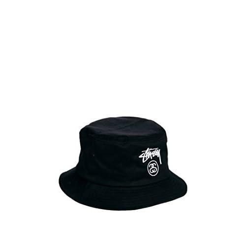 STUSSY STOCK LOCK FA14 BUCKET HAT CAP BLACK NAVY ステューシー (S/Mサイズ(58cm), Black) [並行輸入品]