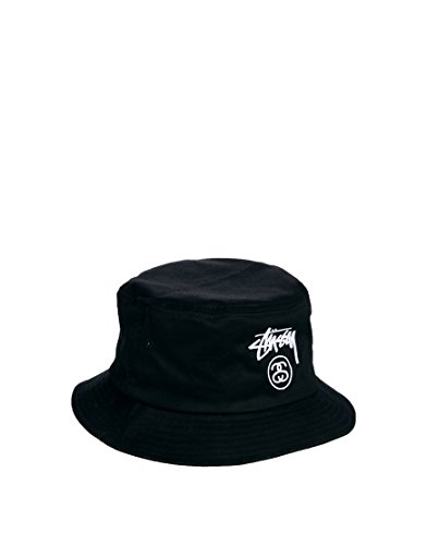 a22490ac3f9 STUSSY STOCK LOCK FA14 BUCKET HAT CAP BLACK NAVY ステューシー(S Mサイズ(58cm)