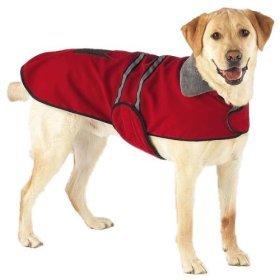 Casual Canine Jacket w/Reflective Stripe Xxlg Red