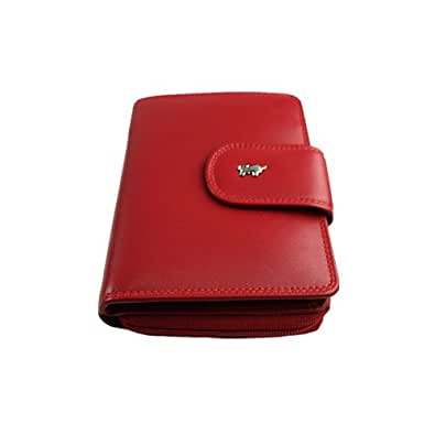 Braun Büffel Golf Geldbörse Leder 10 cm rot