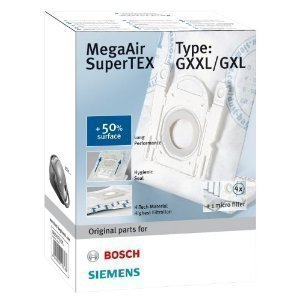 TWO PACKS GENUINE BOSCH DUST BAGS MEGAAIR SUPERTEX GXXL/GXL FREE DELIVERY by bartyspares