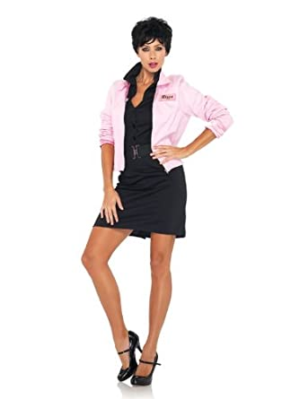 Leg Avenue Grease Women's Pink Ladies Jacket, Pink, Large