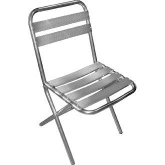 Garden/diseño cilíndrico silla plegable - aluminio - 43Wx57, 5Dx78, 5Hcm (4 unidades) - diseño elegante y duradero muebles para lugar de tu jardín para