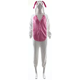 Fashion Wardrobe ONESIE Adult Pyjamas ANIMAL ZOO FANCY DRESS (UK 6-8 Small, Rabbit W401)