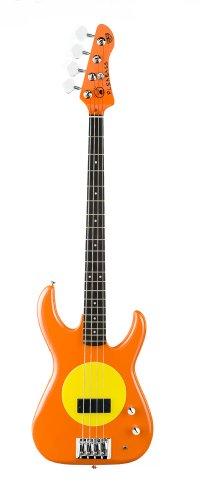 Fleabass Model 32 Bass Guitar Orange and Yellow (Sunny)