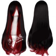 80cm Fashion Long Cosplay Curly Hair Gradient Full Wig