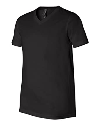 V-Neck Men's Short Sleeve T-Shirt by Canvas