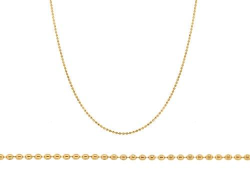 9ct Yellow Gold Mini Ball Chain 46cm/18