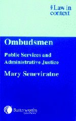 Ombudsmen: Public Services and Administrative Justice...