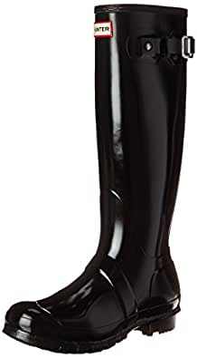 Hunters Original Tall Gloss W23616, Damen Gummistiefel, Schwarz (black), EU 37 (UK 4)