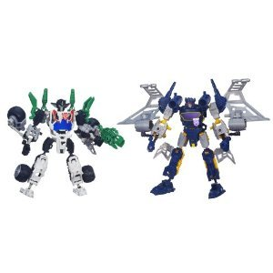 Transformers ( Transformers ) Construct-Bots Elite Class Wheeljack and Soundwave Buildable Action Figures s ( parallel import )