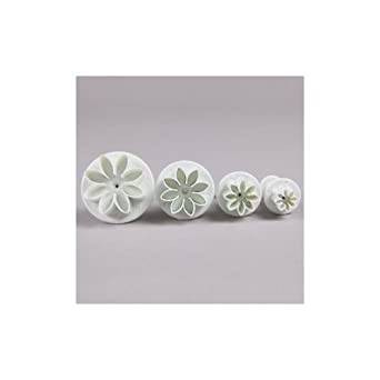 Set of 4 Daisy Marguerite Plunger Cutter By FlissyTM