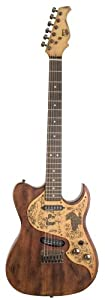 AXL Western Badwater Eldorado Electric Guitar, Antique Brown
