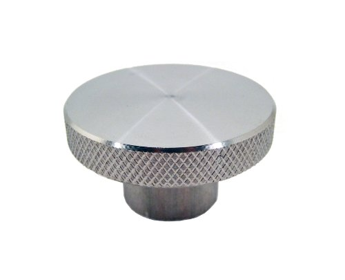 JW Winco Stainless Steel 303 Round Tapped Knob, Knurled, Threaded Hole, 1/2