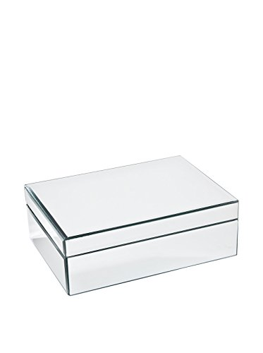 Large Glass Jewelry Box Color: Clear Mirrored