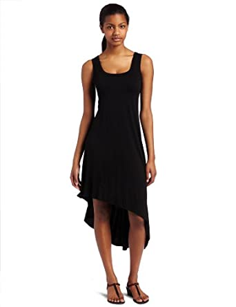 Karen Kane Womens Asymmetric Hem Dress, Black, Medium