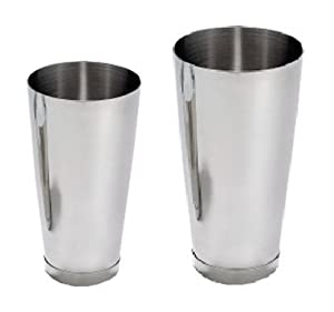 2 Piece Set Stainless Steel Cocktail Shaker: 15 OZ & 26 OZ by Tar Hong