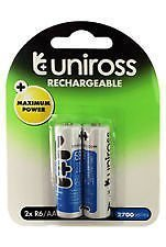 Uniross Rechargeable AA 2700mAh NiMH 1.2V 2Nos Battery