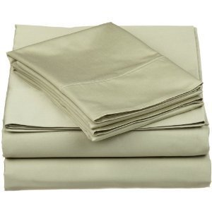 Olympic Queen SAGE Solid Sheet Set 600tc 100% Egyptian cotton by Treasures2
